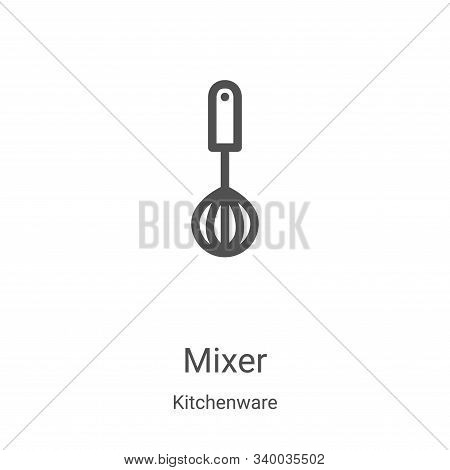 mixer icon isolated on white background from kitchenware collection. mixer icon trendy and modern mi