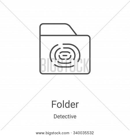 folder icon isolated on white background from detective collection. folder icon trendy and modern fo