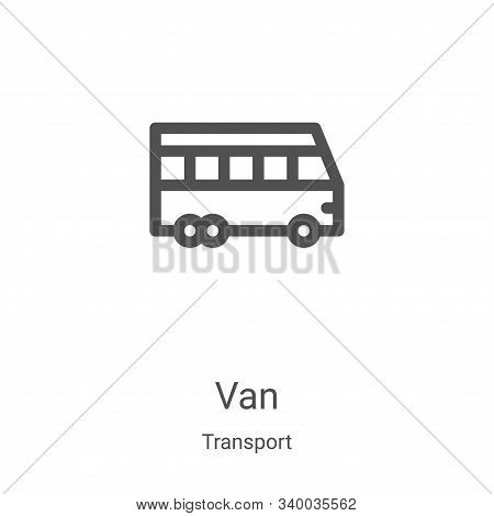 van icon isolated on white background from transport collection. van icon trendy and modern van symb
