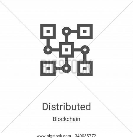 distributed icon isolated on white background from blockchain collection. distributed icon trendy an