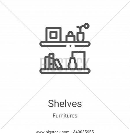 shelves icon isolated on white background from furnitures collection. shelves icon trendy and modern