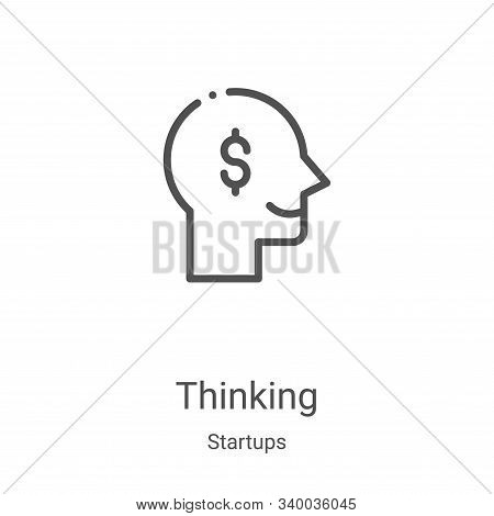 thinking icon isolated on white background from startups collection. thinking icon trendy and modern