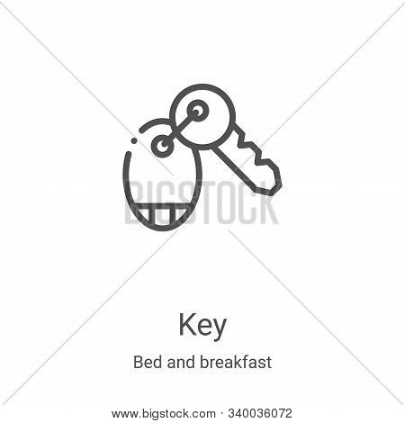 key icon isolated on white background from bed and breakfast collection. key icon trendy and modern