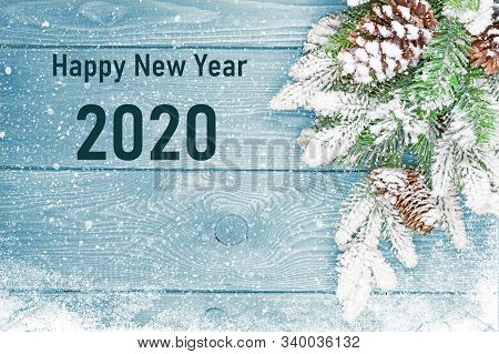 Happy New Years 2020  Card. Happy New Years 2020 Greeting Card Design Concept. 2020 Text, Number. Ha
