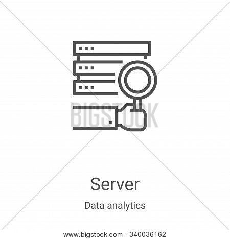 server icon isolated on white background from data analytics collection. server icon trendy and mode