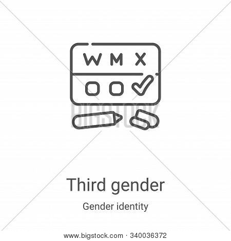 third gender icon isolated on white background from gender identity collection. third gender icon tr