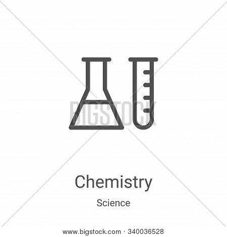 chemistry icon isolated on white background from science collection. chemistry icon trendy and moder