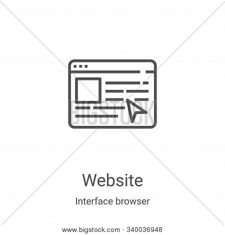 website icon isolated on white background from interface browser collection. website icon trendy and