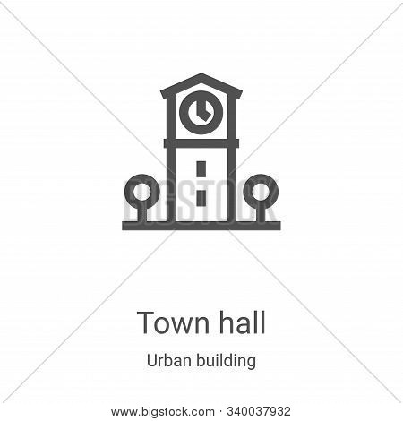 town hall icon isolated on white background from urban building collection. town hall icon trendy an