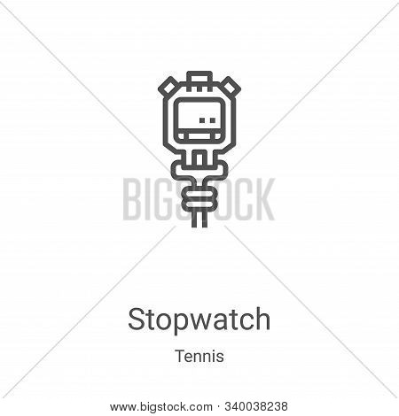 stopwatch icon isolated on white background from tennis collection. stopwatch icon trendy and modern