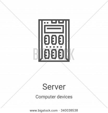 server icon isolated on white background from computer devices collection. server icon trendy and mo
