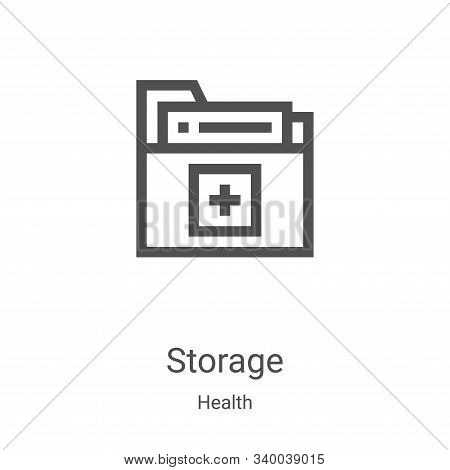 storage icon isolated on white background from health collection. storage icon trendy and modern sto
