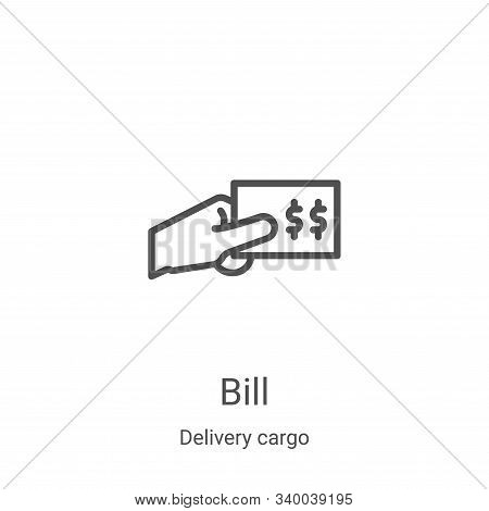 bill icon isolated on white background from delivery cargo collection. bill icon trendy and modern b