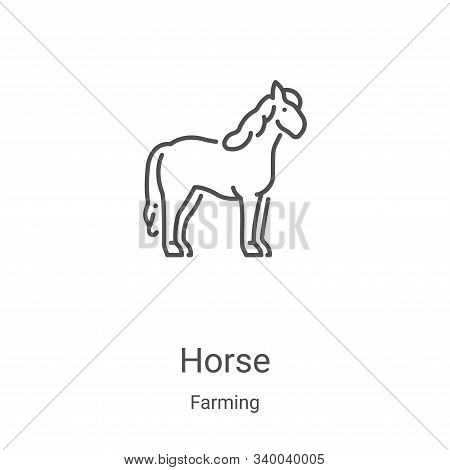 horse icon isolated on white background from farming collection. horse icon trendy and modern horse