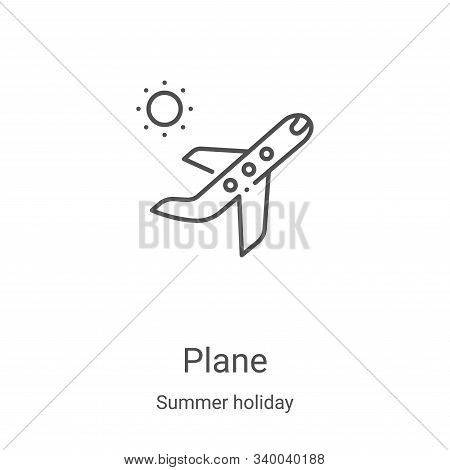 plane icon isolated on white background from summer holiday collection. plane icon trendy and modern