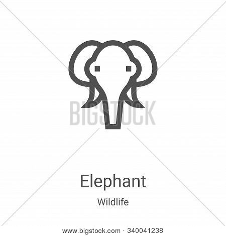 elephant icon isolated on white background from wildlife collection. elephant icon trendy and modern