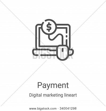 payment icon isolated on white background from digital marketing lineart collection. payment icon tr
