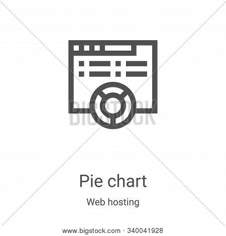 pie chart icon isolated on white background from web hosting collection. pie chart icon trendy and m