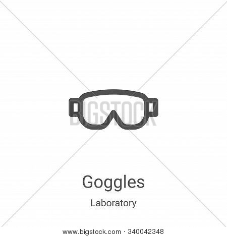 goggles icon isolated on white background from laboratory collection. goggles icon trendy and modern