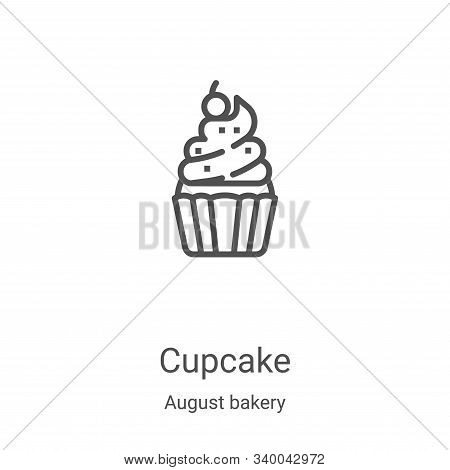 cupcake icon isolated on white background from august bakery collection. cupcake icon trendy and mod