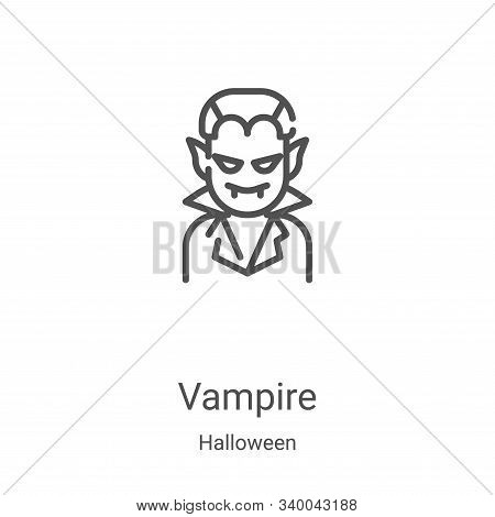 vampire icon isolated on white background from halloween collection. vampire icon trendy and modern