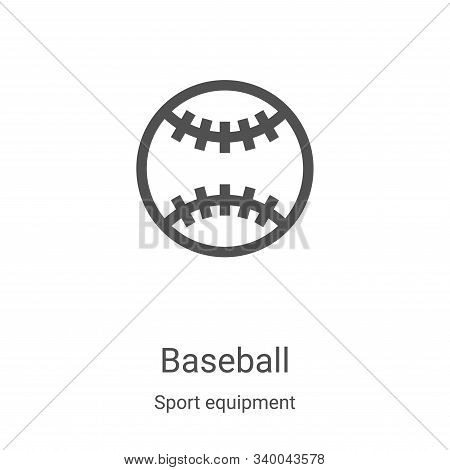 baseball icon isolated on white background from sport equipment collection. baseball icon trendy and
