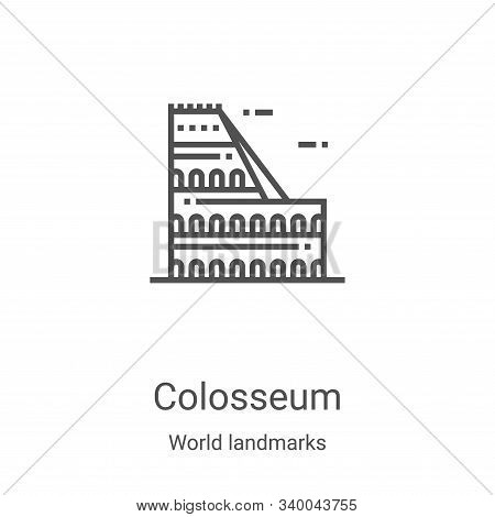 Colosseum icon isolated on white background from world landmarks collection. Colosseum icon trendy a