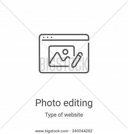 photo editing icon isolated on white background from type of website collection. photo editing icon