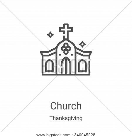 church icon isolated on white background from thanksgiving collection. church icon trendy and modern