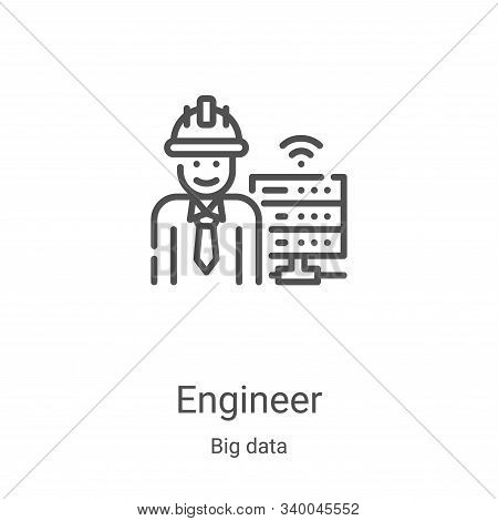 engineer icon isolated on white background from big data collection. engineer icon trendy and modern