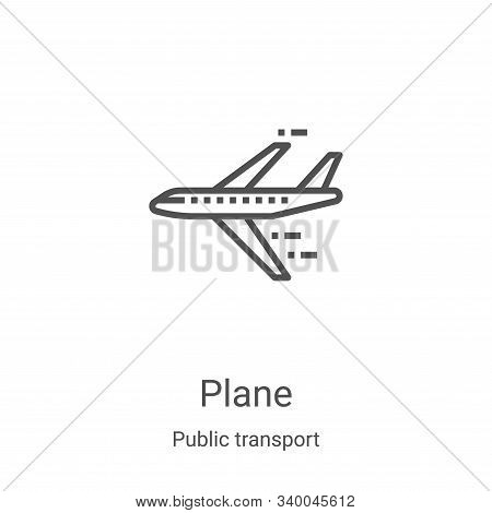 plane icon isolated on white background from public transport collection. plane icon trendy and mode