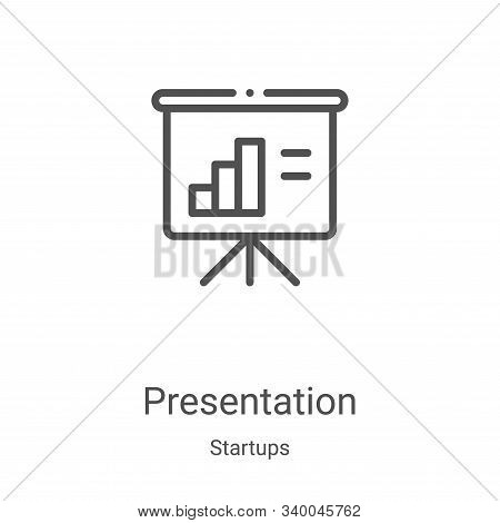 presentation icon isolated on white background from startups collection. presentation icon trendy an