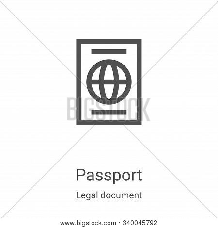 passport icon isolated on white background from legal document collection. passport icon trendy and