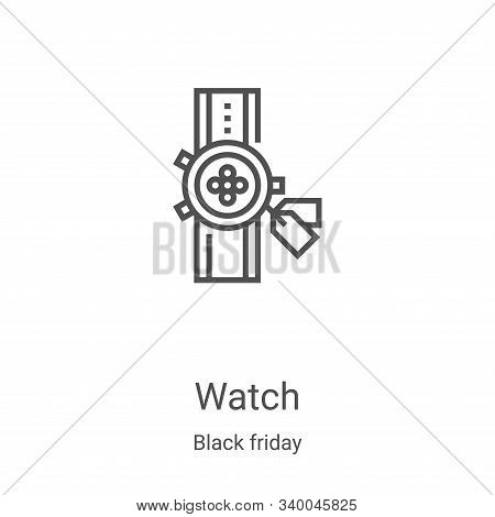 watch icon isolated on white background from black friday collection. watch icon trendy and modern w