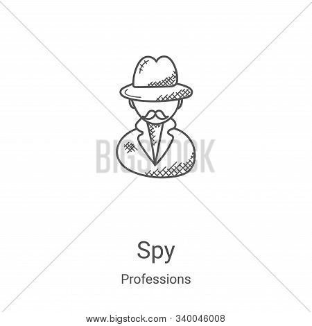 spy icon isolated on white background from professions collection. spy icon trendy and modern spy sy