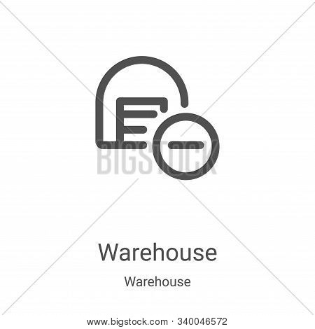 warehouse icon isolated on white background from warehouse collection. warehouse icon trendy and mod