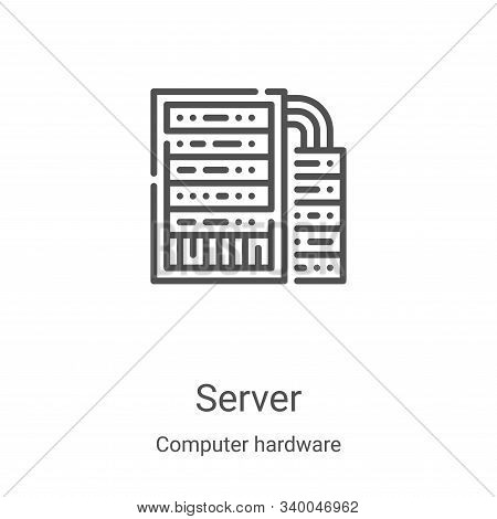 server icon isolated on white background from computer hardware collection. server icon trendy and m