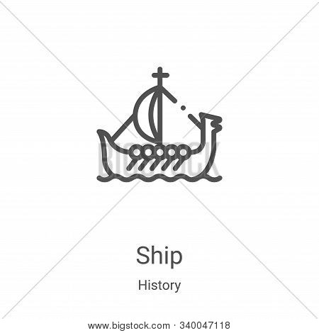 ship icon isolated on white background from history collection. ship icon trendy and modern ship sym