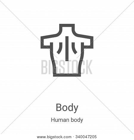 body icon isolated on white background from human body collection. body icon trendy and modern body