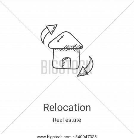 relocation icon isolated on white background from real estate collection. relocation icon trendy and