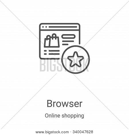 browser icon isolated on white background from online shopping collection. browser icon trendy and m