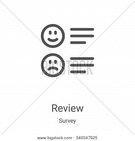 review icon isolated on white background from survey collection. review icon trendy and modern revie