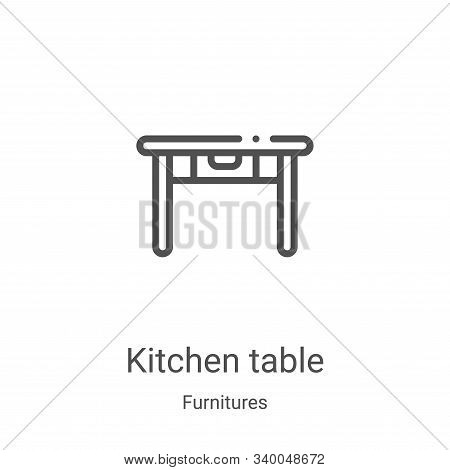 kitchen table icon isolated on white background from furnitures collection. kitchen table icon trend