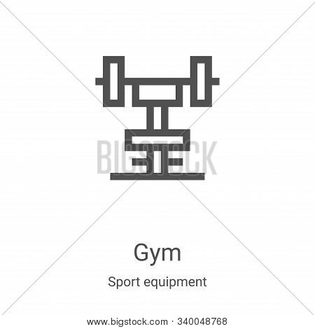 gym icon isolated on white background from sport equipment collection. gym icon trendy and modern gy