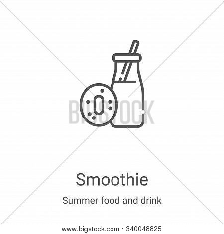 smoothie icon isolated on white background from summer food and drink collection. smoothie icon tren