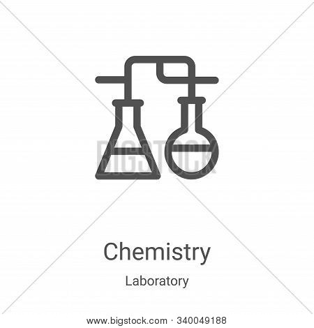 chemistry icon isolated on white background from laboratory collection. chemistry icon trendy and mo