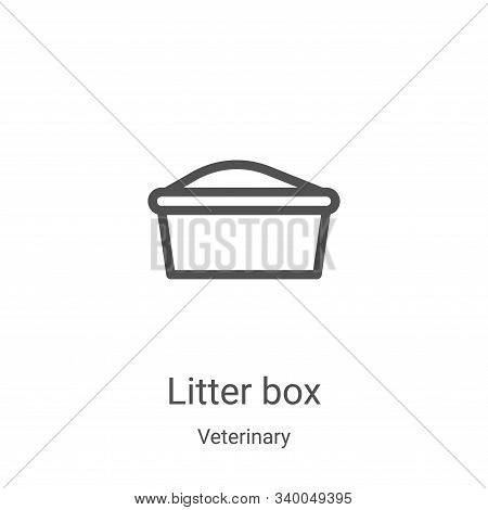 litter box icon isolated on white background from veterinary collection. litter box icon trendy and