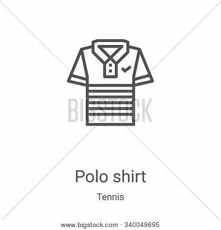 polo shirt icon isolated on white background from tennis collection. polo shirt icon trendy and mode