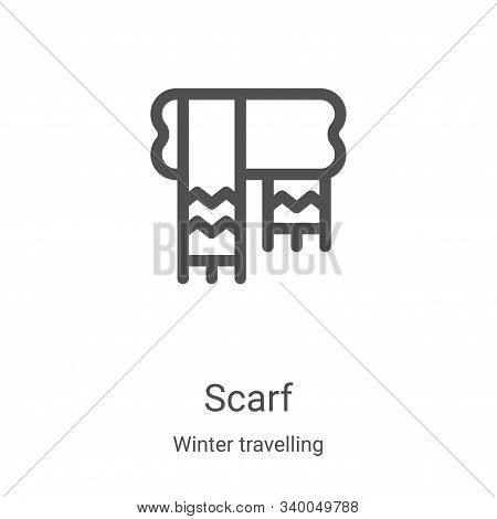 scarf icon isolated on white background from winter travelling collection. scarf icon trendy and mod