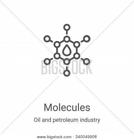 molecules icon isolated on white background from oil and petroleum industry collection. molecules ic